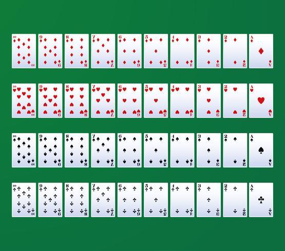 Poker Freizeitkarten vektor
