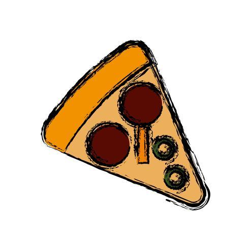 pizza ikon bild vektor