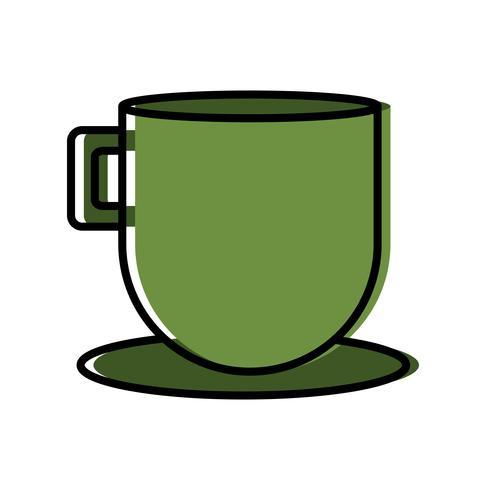 kaffe mugg ikon vektor
