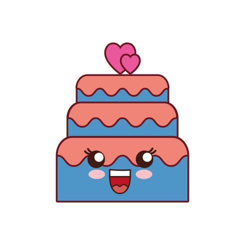 söt tårta ikon vektor