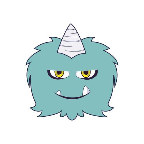 roligt monster med komisk karaktär vektor
