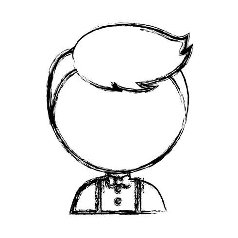 Cartoon-Mann-Symbol vektor