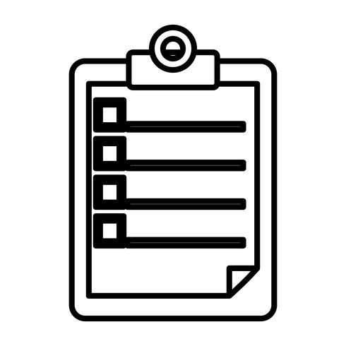 Berichtstabellensymbol vektor