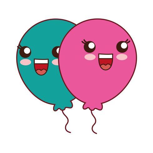 ballonger ikonbild vektor