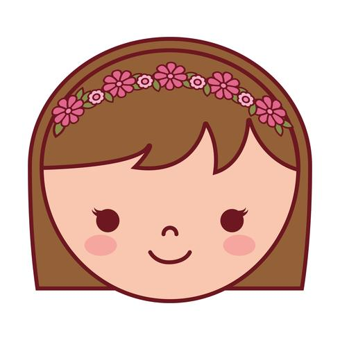 Cartoon Frau Gesichtssymbol vektor