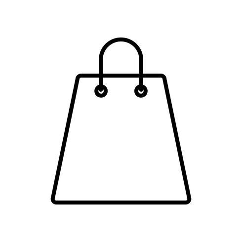 shopping väska ikon vektor