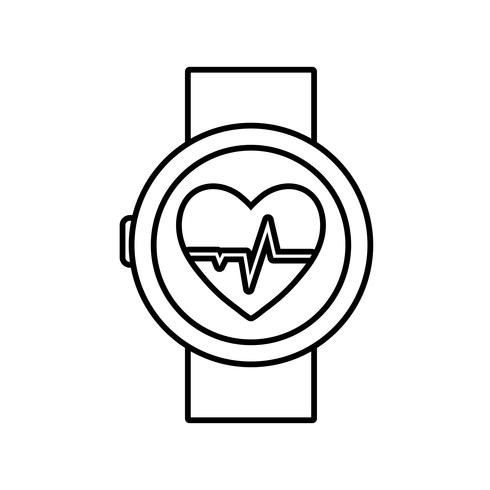 Smartwatch-Symbolbild vektor