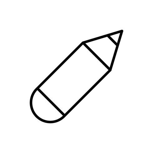 penna redskap ikon vektor