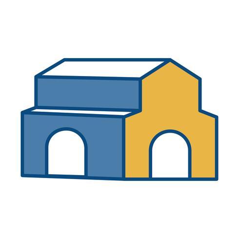 kyrka byggnad ikon vektor