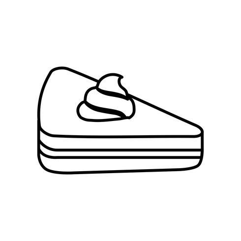 Stück Kuchen-Symbol vektor