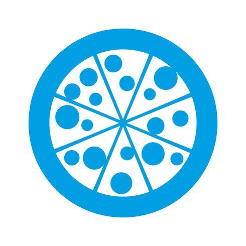 Pizza-Symbolbild vektor