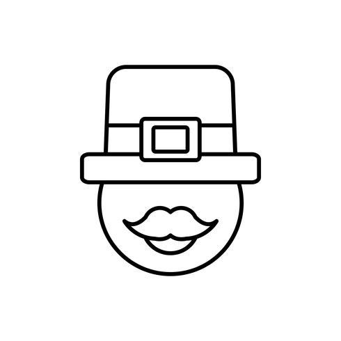 irländsk hattdesign vektor