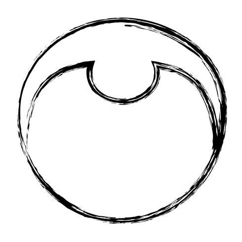 Cartoon junge Gesichtssymbol vektor