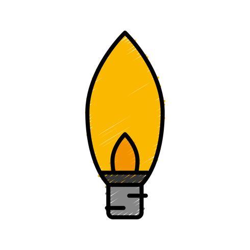 glödlampa-ikonen vektor