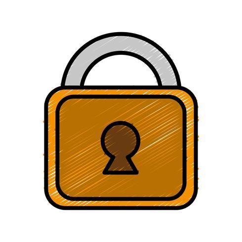 Sicherheitssymbol Vorhängeschloss vektor