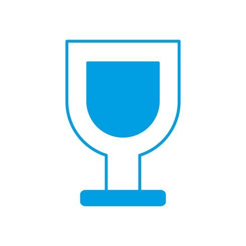 vin glas ikon vektor
