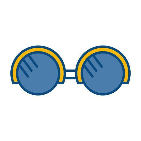 glasögon tillbehör ikon vektor