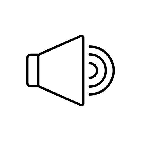 högtalarikonbild vektor