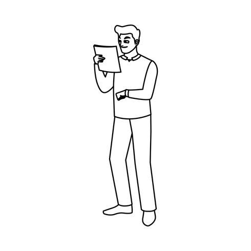 logistisk arbetare avatar teckenikon vektor