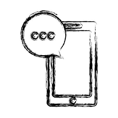 smartphone enhet ikon vektor