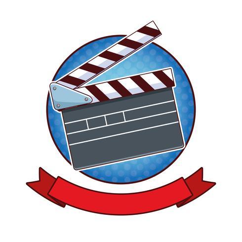 Tecknad film för popkonst för film vektor