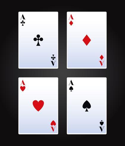 Pokerkortspel vektor