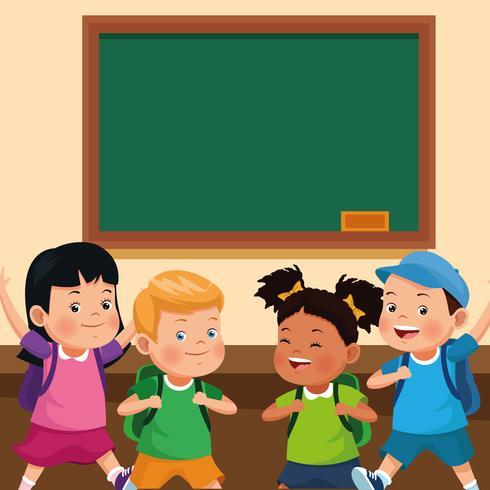 zurück zu Schule scherzt Karikaturen vektor
