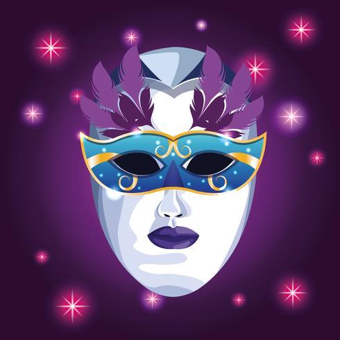 mardi gras mask vektor