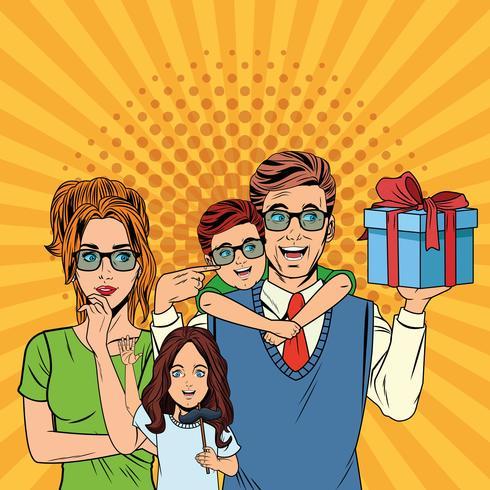 Pappers tecknad film för fäder vektor