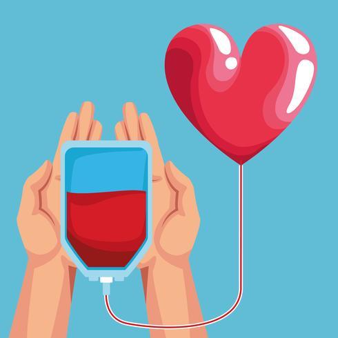 Blodgivande välgörenhets karikaturteckningar vektor