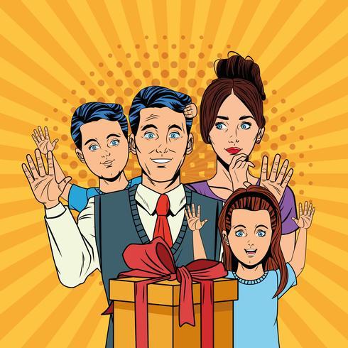 Pop-Art-Cartoons zum Vatertag vektor