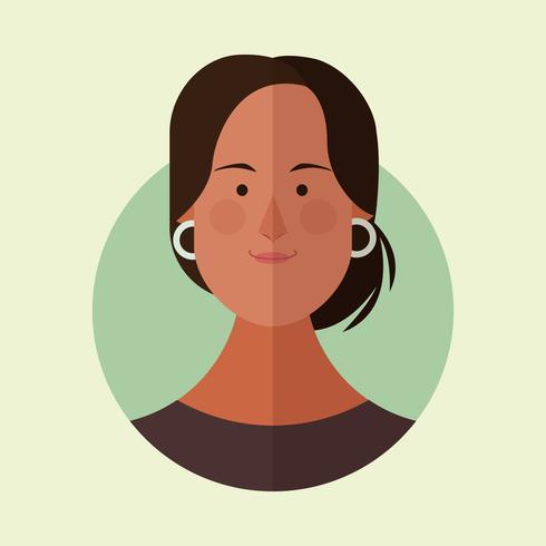 Frau Gesicht Cartoon vektor