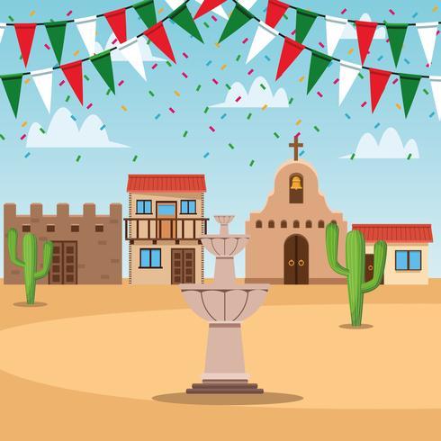Mexikanische Stadtlandschaft vektor