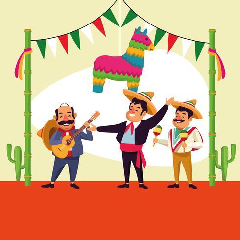 Mexikansk cinco de mayo-tecknad film vektor