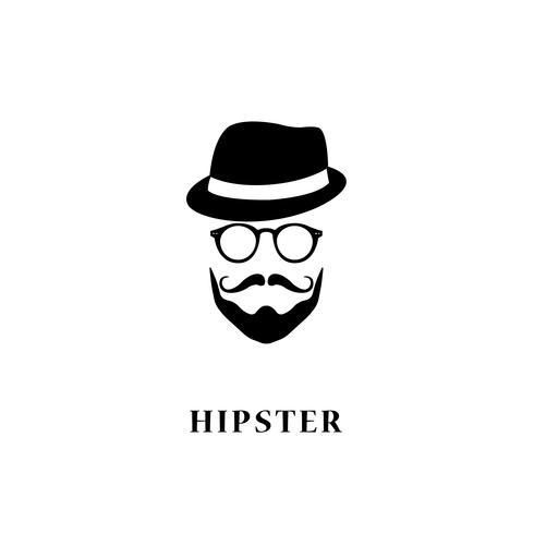 Mann Hipster-Stil. vektor