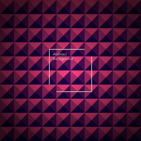 Blauer und rosa abstrakter Pyramidenhintergrund für Ihre Designe. vektor