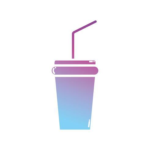kontur soda dryck till färskt i en plastkopp vektor