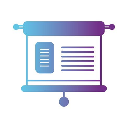 Präsentation der Linienstrategie in Bezug auf Unternehmensinformationen vektor