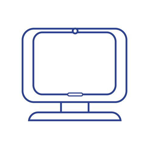 linje dator digital skärm utrustning teknik vektor