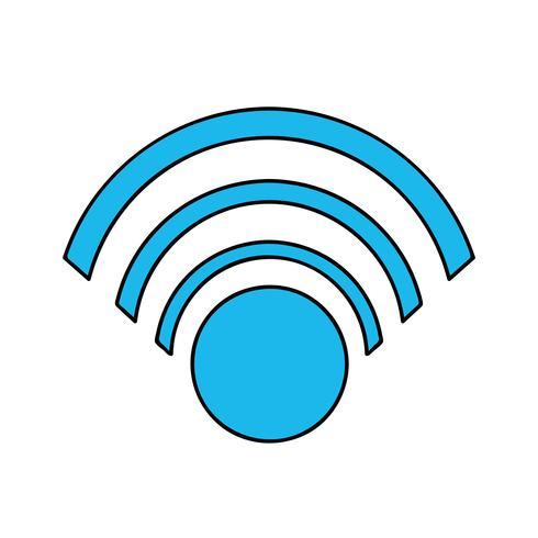 Farb-WLAN-Symbol für die Verbindung im digitalen Web vektor