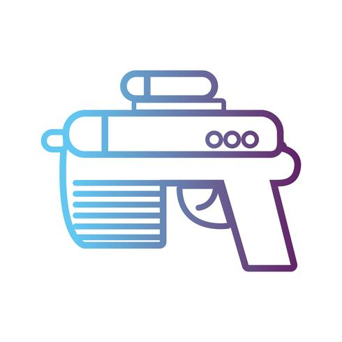 line videogame gun electronic technology vektor