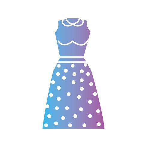 Silhouette Frau Kleidung Stil Design vektor