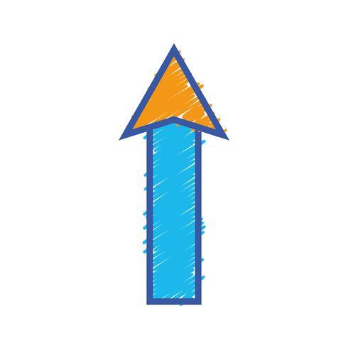 Farbe Web Pfeil nach oben Symbol laden vektor