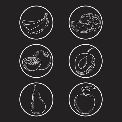 Hand gezeichnete Früchte vektor