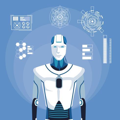humanoider Roboter-Avatar vektor