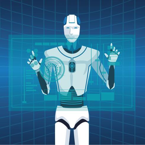 humanoid robot avatar vektor