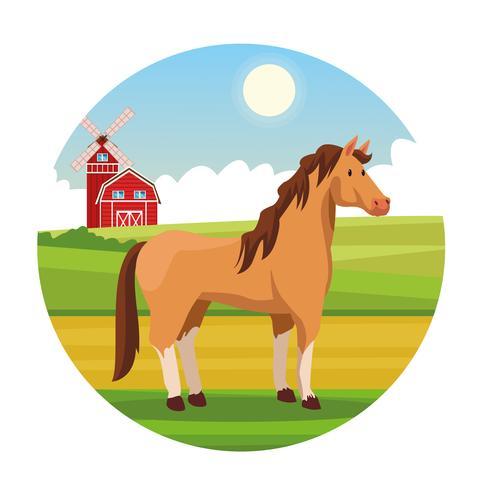 Farm ländlichen Tier Cartoons vektor