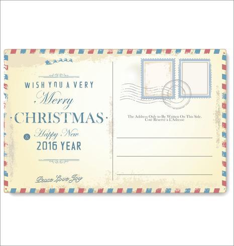 Vintage Weihnachtspostkarte vektor