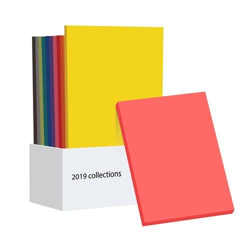 Guidebok för färgkollektioner 2019 för designerfotograf och konstnärer vektor