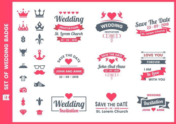 Bröllop Retro vektor för banner